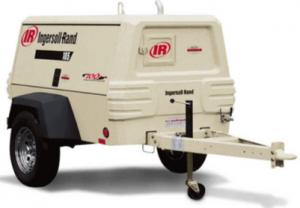 Air compressor trailer